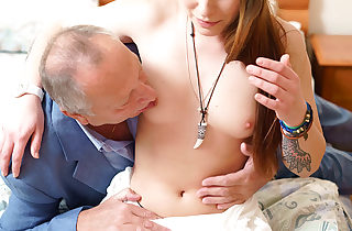 Teen babe seduced by a fellow three times her age