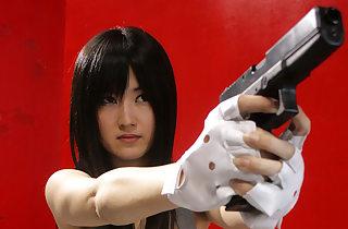 Shizuka Minami moans glaring all over a..